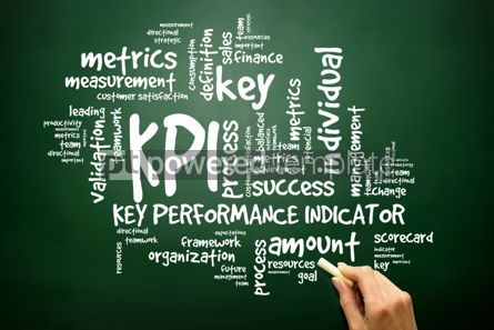 Business: Hand drawn Wordcloud tags of KPI - key performance indicators co #02607