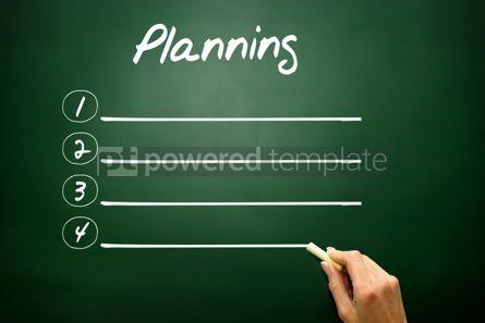 Business: Hand drawn Blank Planning list concept on blackboard #02611