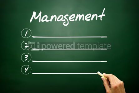 Business: Hand drawn MANAGEMENT blank list concept on blackboard