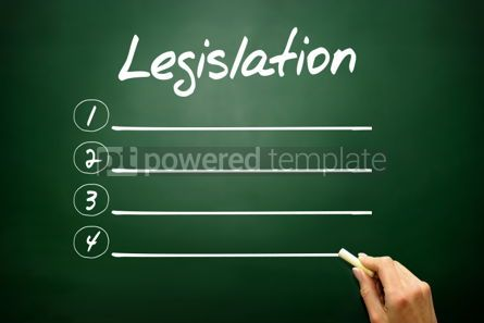 Business: Hand drawn Legislation blank list concept on blackboard