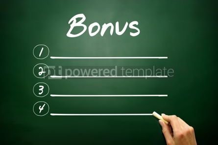 Business: Hand drawn BONUS blank list concept on blackboard #02626