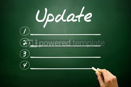 Business: Hand drawn Update blank list concept on blackboard