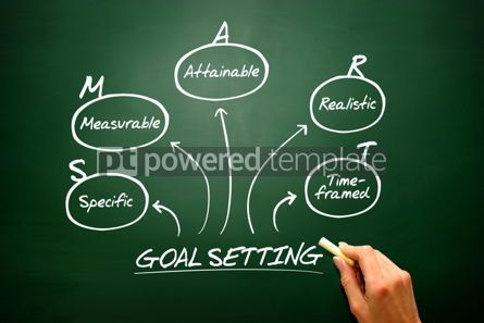 Business: Hand drawn vector Smart goal setting diagram chart shapes on bl #02642