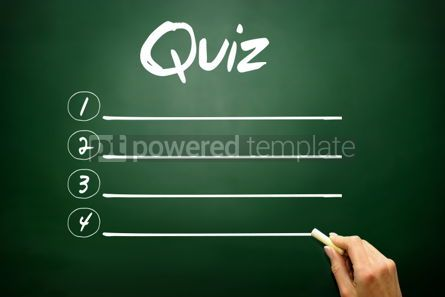 Business: Hand drawn QUIZ blank list business concept on blackboard