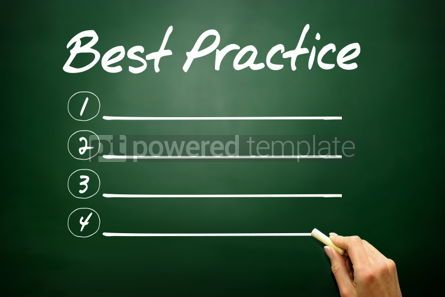 Business: Hand drawn Best Practice blank list business concept on blackbo #02656