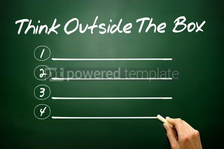 Business: Hand drawn Think Outside The Box blank list business concept on #02657