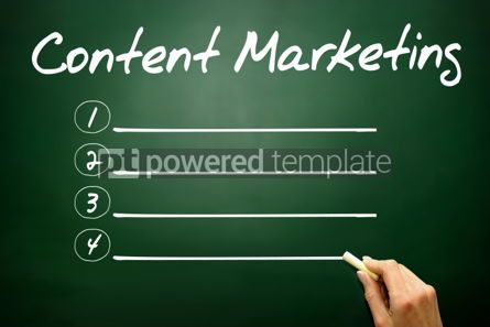 Business: Hand drawn Content Marketing blank list business concept on bla #02660