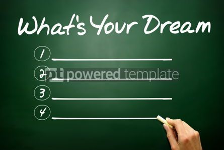 Business: Hand drawn What's Your Dream blank list business concept on bla #02671