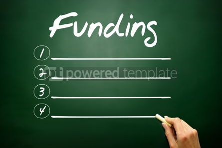 Business: Hand drawn Funding blank list business concept on blackboard #02677