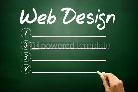 Business: Hand drawn Web Design blank list business concept on blackboard #02679
