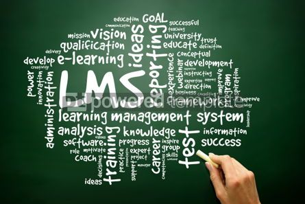Business: Hand drawn Word cloud of Learning Management System (LMS) relate #02681