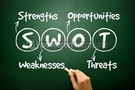 Business: Hand drawn SWOT analysis business strategy management concept o #02682