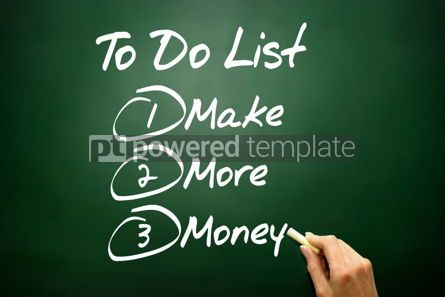Business: Hand drawn Make More Money in To Do List business concept on bl #02684