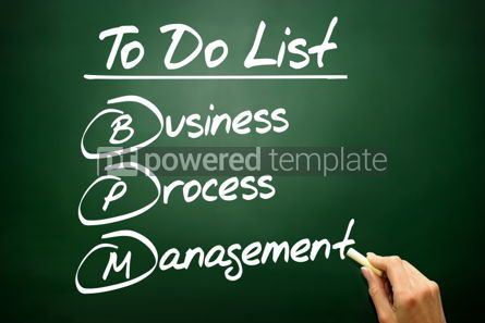 Business: Hand drawn Business process management (BPM) in To Do List conc #02685
