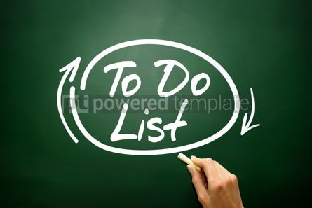 Business: Hand drawn TO DO LIST business concept on blackboard