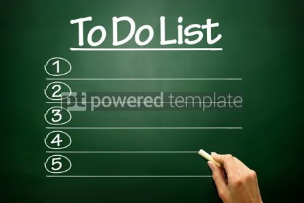Business: Hand drawn Blank TO DO LIST business concept on blackboard #02691