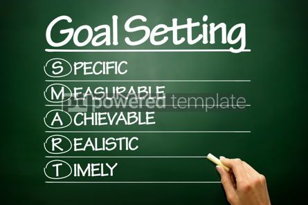 Business: Hand drawn SMART Goal Setting business concept on blackboard