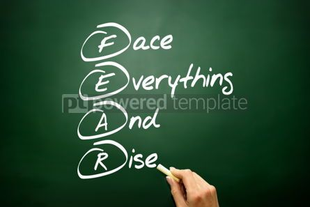 Business: Hand drawn Face Everything And Rise (FEAR) acronym business con #02698