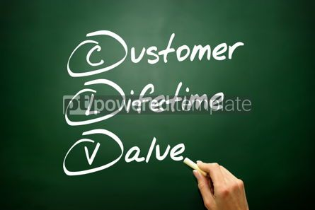 Business: Hand drawn Customer Lifetime Value (CLV) acronym business conce #02699