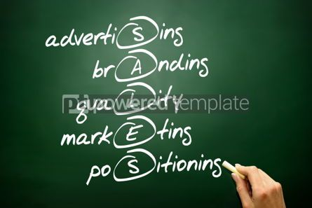 Business: Hand drawn SALES acronym business concept on blackboard