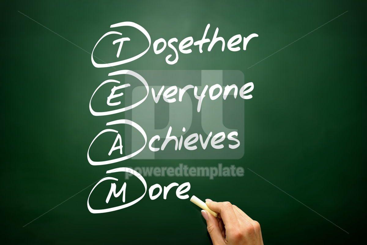 Hand drawn Together Everyone Achieves More (TEAM) acronym busin, 02703, Business — PoweredTemplate.com