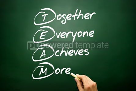Business: Hand drawn Together Everyone Achieves More (TEAM) acronym busin #02703