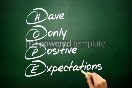 Business: Hand drawn HOPE acronym business concept on blackboard #02704