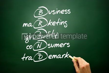 Business: Hand drawn BRAND acronym business concept on blackboard #02706
