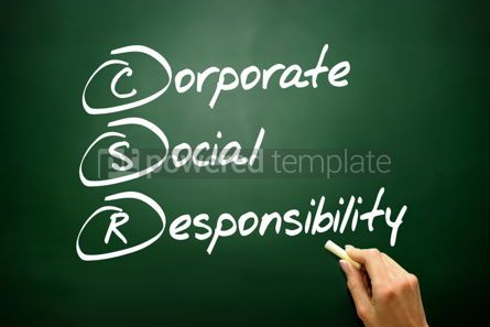 Business: Hand drawn Corporate Social Responsibility (CSR) business conce #02736