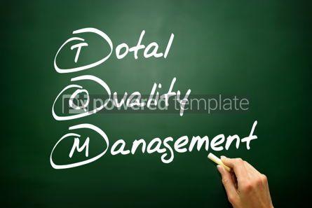 Business: Hand drawn Total Quality Management (TQM) business concept acro #02737