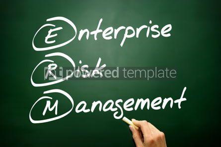 Business: Hand drawn Enterprise Risk Management (ERM) business concept ac #02740