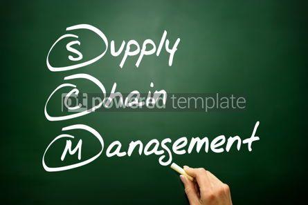 Business: Hand drawn Supply Chain Management (SCM) business concept acron #02741