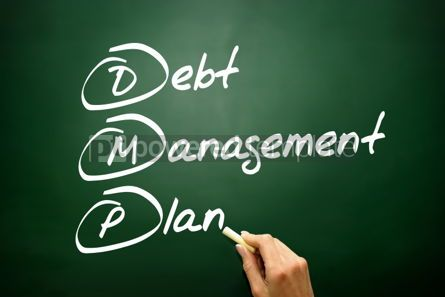 Business: Hand drawn Debt Management Plan (DMP) business concept acronym  #02742