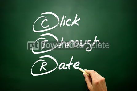 Business: Hand drawn Click Through Rate (CTR) business concept acronym on #02743