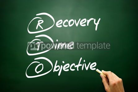 Business: Hand drawn Recovery Time Objective (RTO) business concept acron #02744