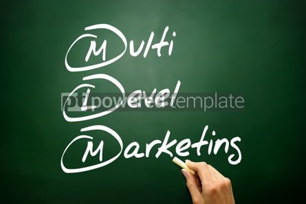 Business: Hand drawn multi level marketing (MLM) business concept acronym #02747