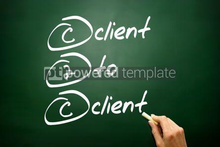 Business: Hand drawn Client To Client (c2c) business concept acronym  #02748