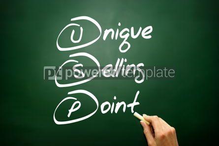 Business: Hand drawn Unique Selling Point (USP) business concept acronym  #02749