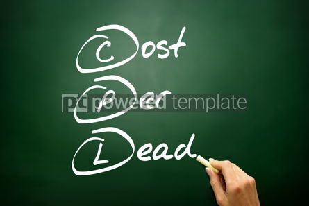 Business: Hand drawn Cost Per Lead (CPL) business concept acronym  #02750