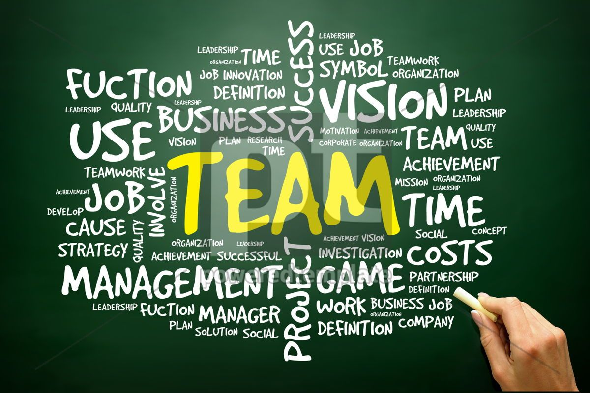 Hand drawn Word cloud of TEAM related items business concept , 02752, Business — PoweredTemplate.com