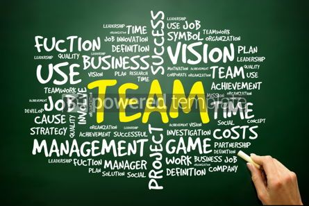 Business: Hand drawn Word cloud of TEAM related items business concept 