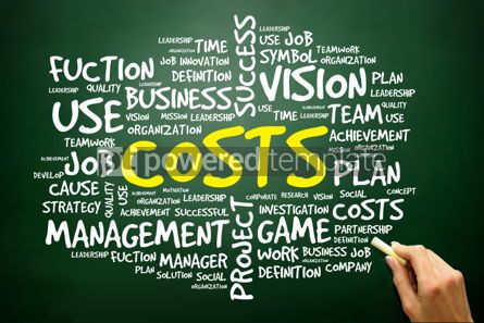 Business: Hand drawn Word cloud of COSTS related items business concept  #02758