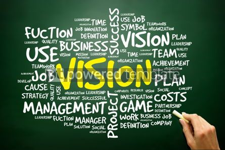 Business: Hand drawn Word cloud of VISION related items business concept  #02759