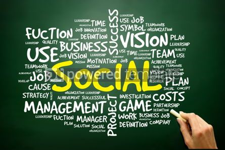 Business: Hand drawn Word cloud of SOCIAL related items business concept #02761