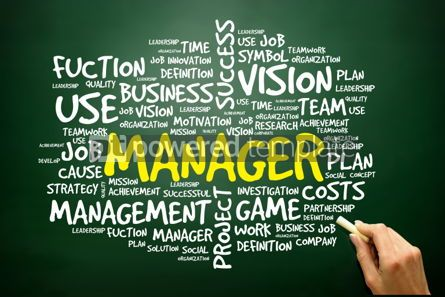 Business: Hand drawn Word cloud of MANAGER related items business concept #02762