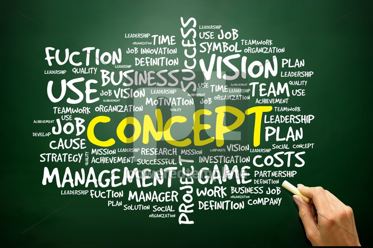 Hand drawn Word cloud of CONCEPT related items business concept, 02763, Business — PoweredTemplate.com