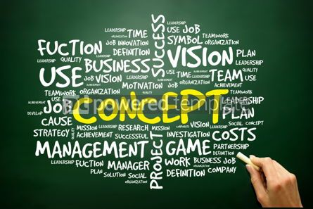 Business: Hand drawn Word cloud of CONCEPT related items business concept #02763