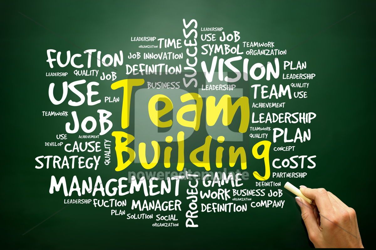 Hand drawn Word cloud of Team Building related items business c, 02766, Business — PoweredTemplate.com
