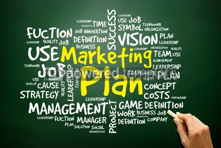 Business: Hand drawn Word cloud of Marketing Plan related items business  #02768