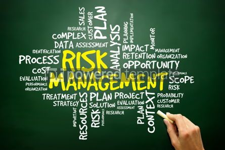 Business: Hand drawn Word cloud of RISK MANAGEMENT related items business #02770